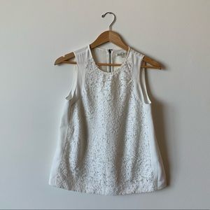 Broadway & Broome (Madewell) White Sequin Tank Top